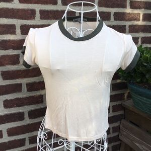 NWT American eagle outfitters creme finger tee